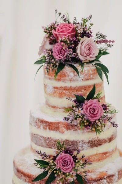 Hochzeit Trend blushed Farben Torte