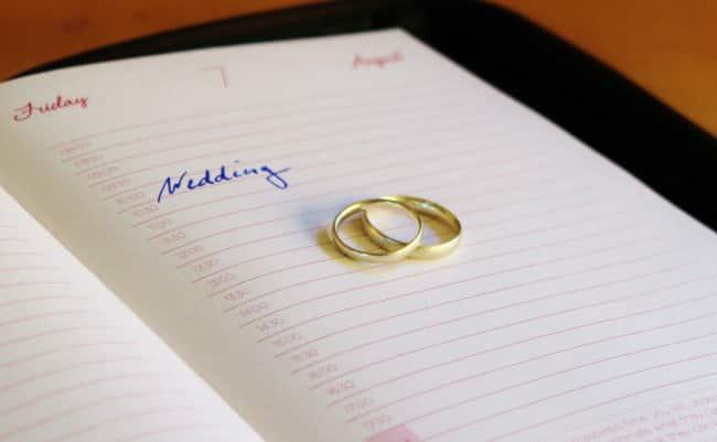 Hochzeitsvorbereitung Zeitplan
